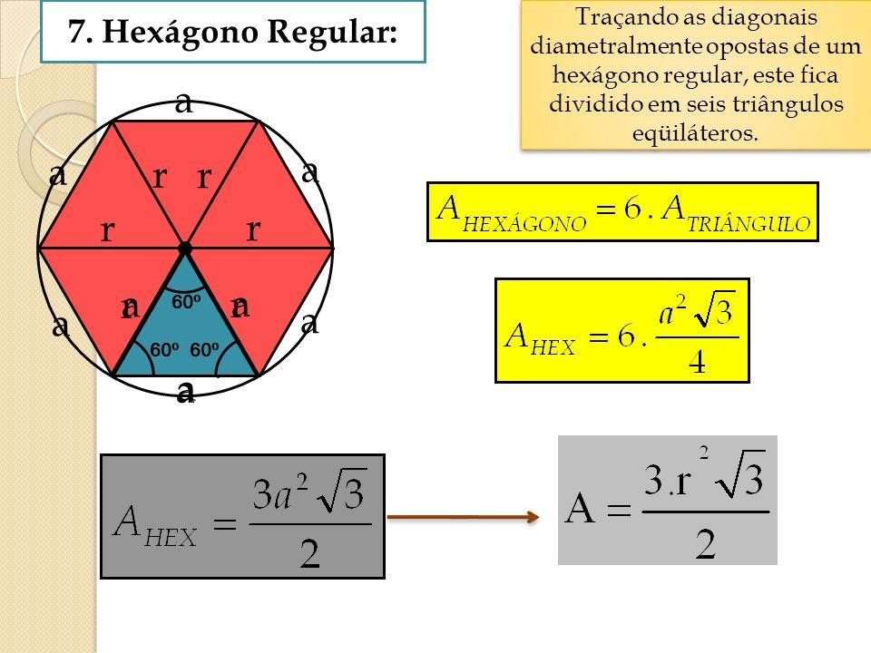 r r r r r r a a 7. Hexágono Regular:
