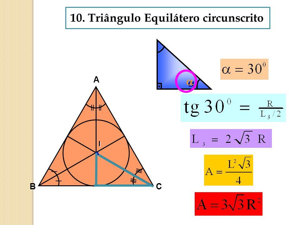 10. Triângulo Equilátero circunscrito
