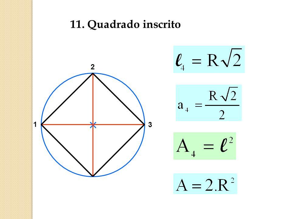 11. Quadrado inscrito 2 1 3
