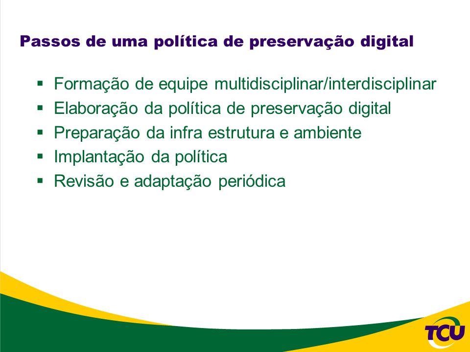 Passos de uma política de preservação digital