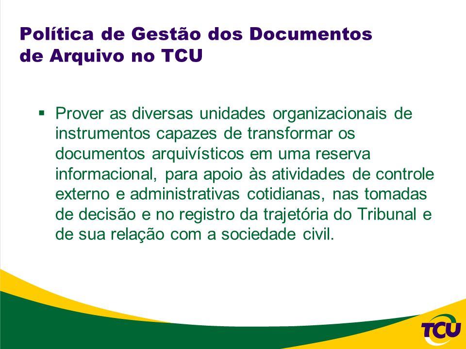 Política de Gestão dos Documentos de Arquivo no TCU
