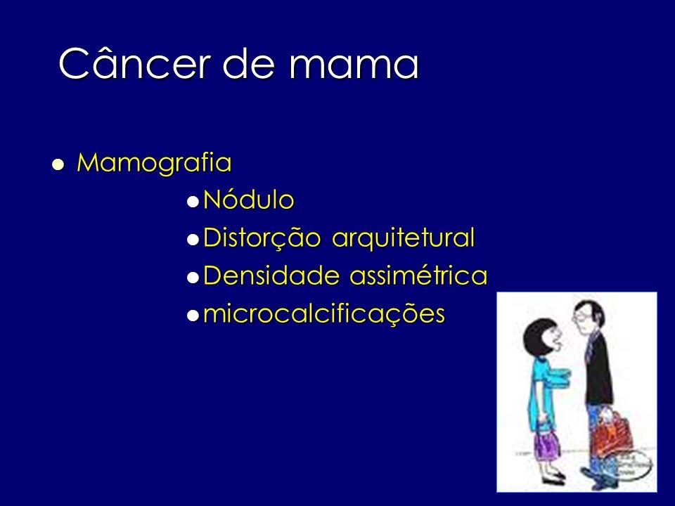 Câncer de mama Mamografia Nódulo Distorção arquitetural