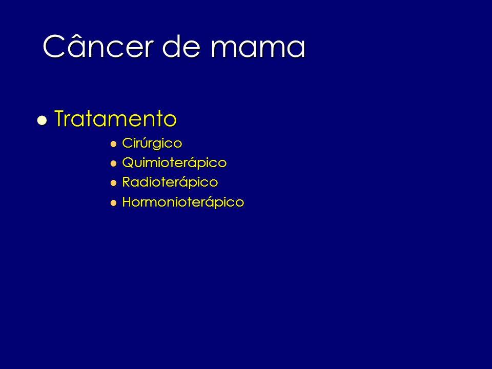 Câncer de mama Tratamento Cirúrgico Quimioterápico Radioterápico