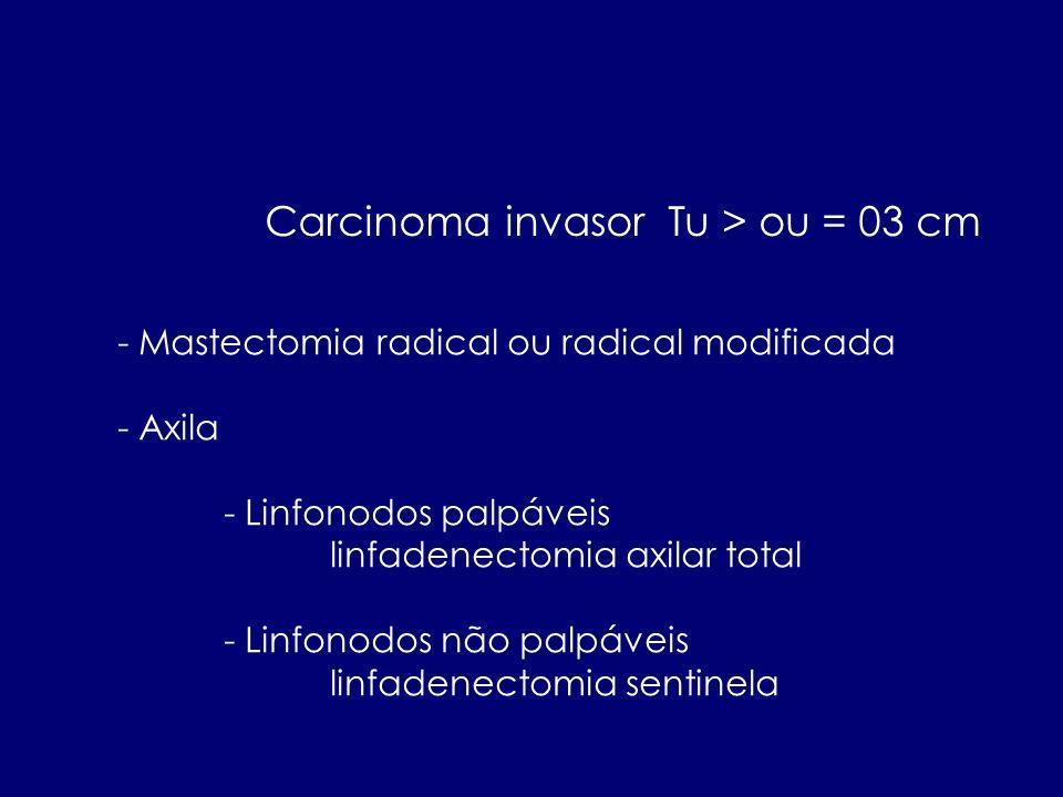 Carcinoma invasor Tu > ou = 03 cm