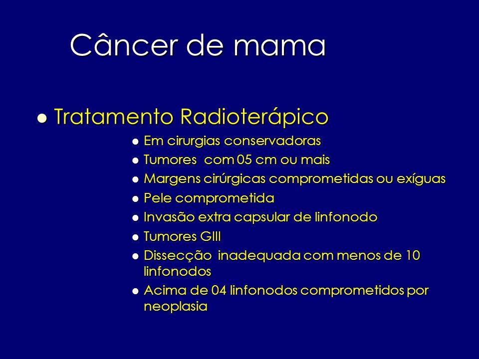 Câncer de mama Tratamento Radioterápico Em cirurgias conservadoras