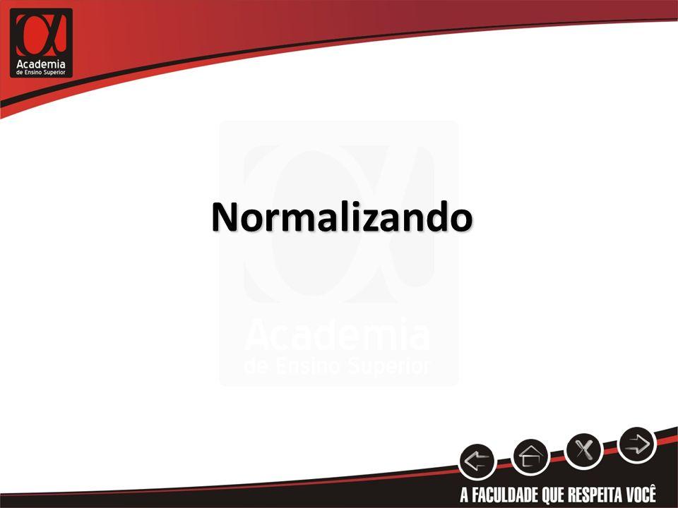 Normalizando