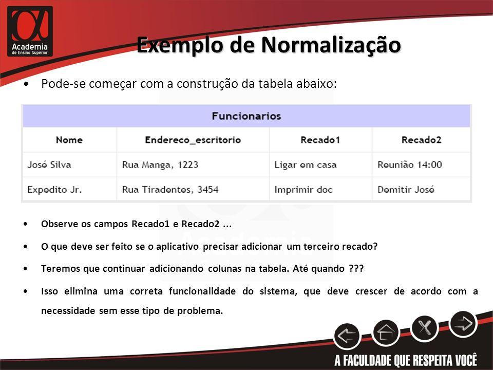 Exemplo de Normalização