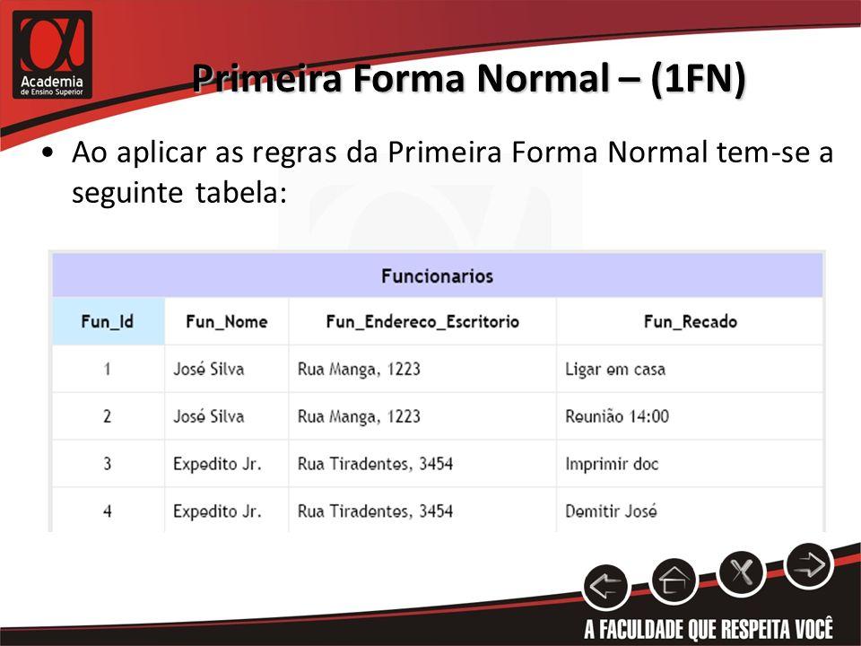Primeira Forma Normal – (1FN)