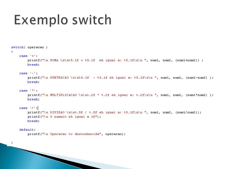 Exemplo switch