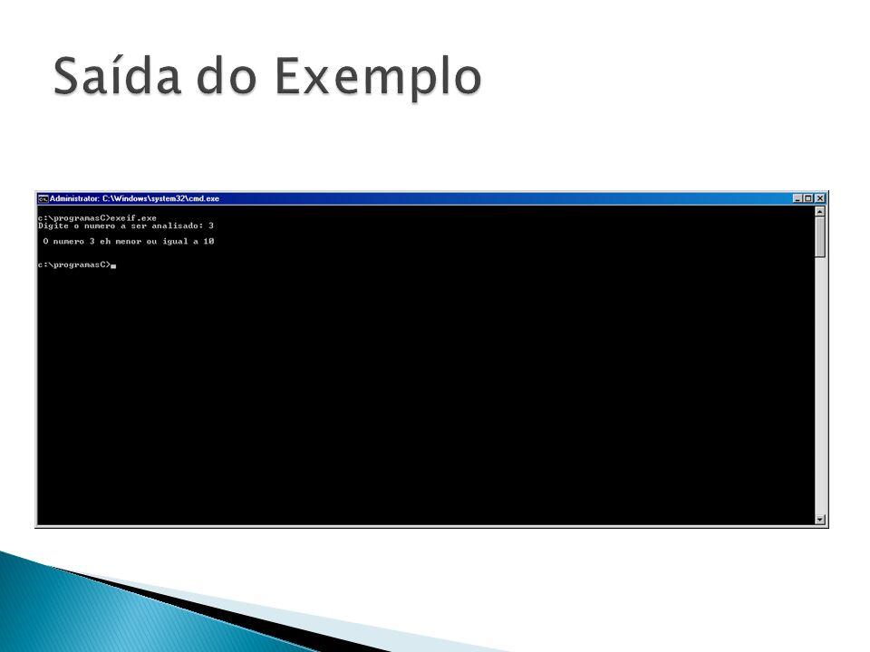 Saída do Exemplo