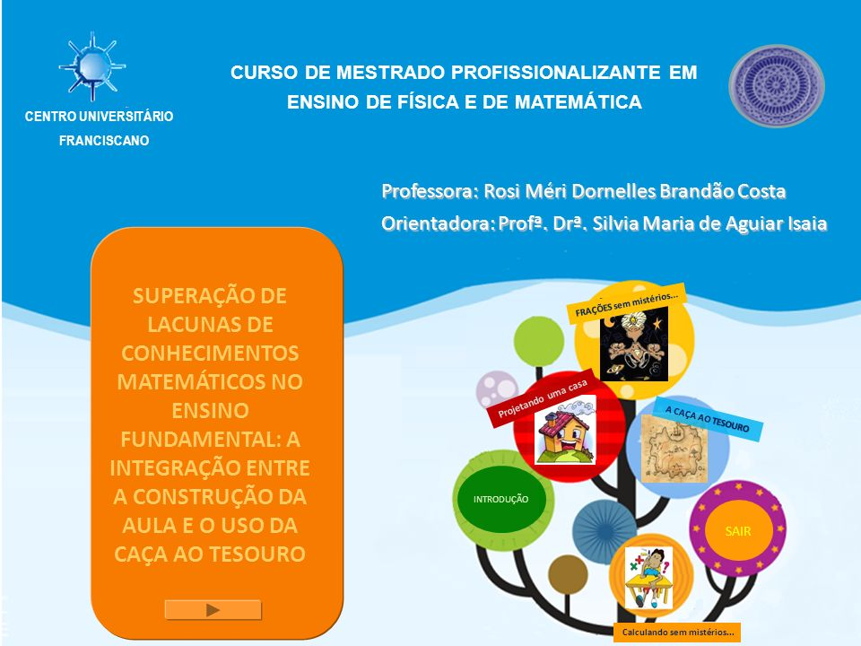 CURSO DE MESTRADO PROFISSIONALIZANTE EM