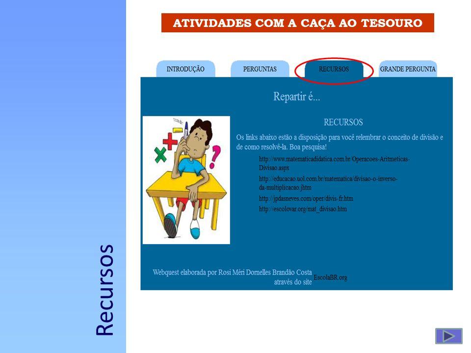 ATIVIDADES COM A CAÇA AO TESOURO