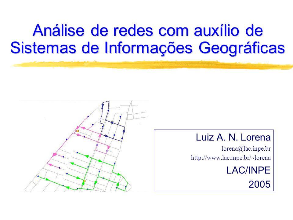 Análise de redes com auxílio de Sistemas de Informações Geográficas