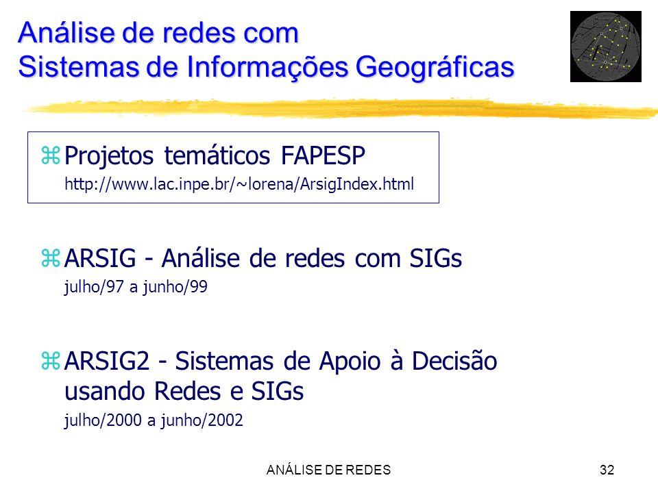 Análise de redes com Sistemas de Informações Geográficas