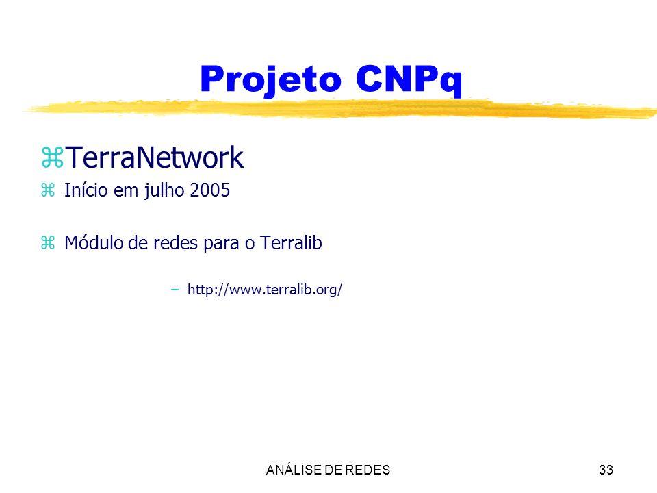 Projeto CNPq TerraNetwork Início em julho 2005