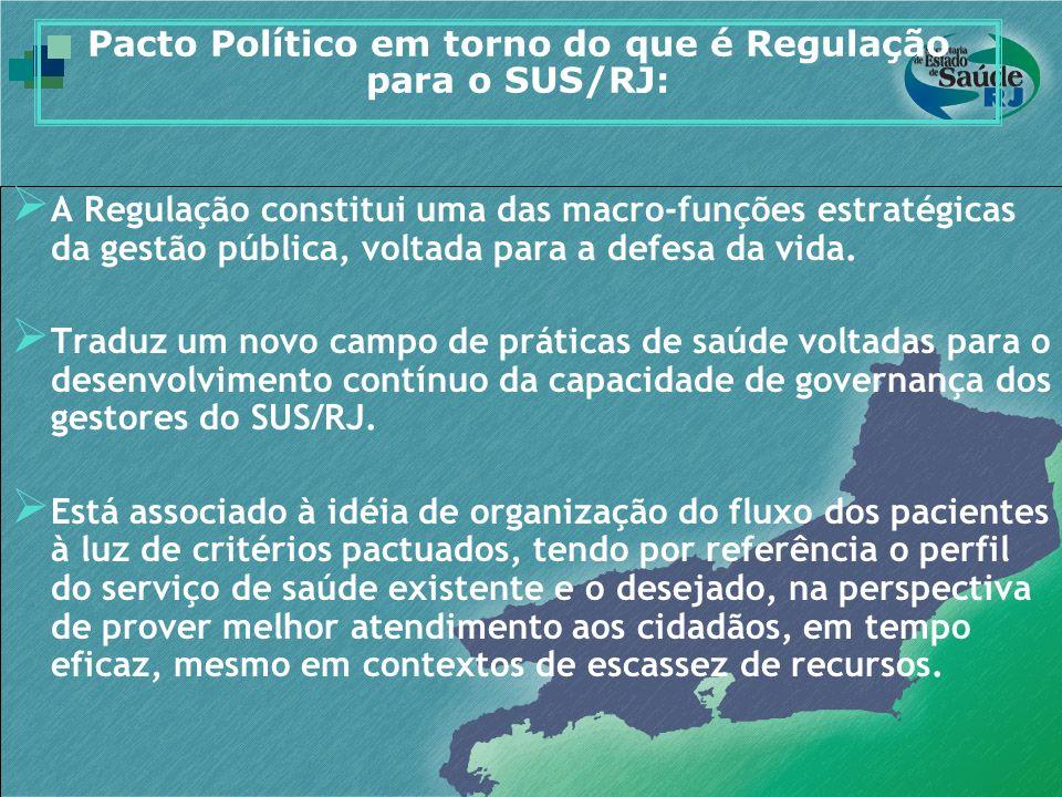 Pacto Político em torno do que é Regulação para o SUS/RJ: