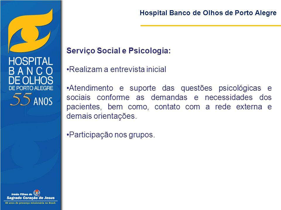 Serviço Social e Psicologia: Realizam a entrevista inicial