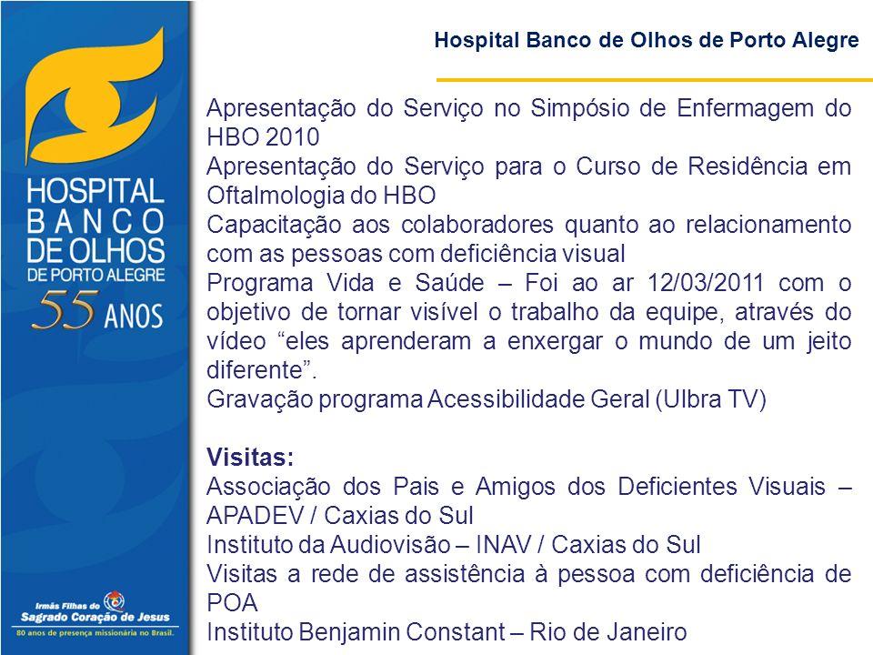 Apresentação do Serviço no Simpósio de Enfermagem do HBO 2010