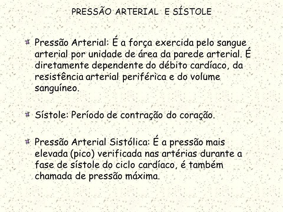 PRESSÃO ARTERIAL E SÍSTOLE