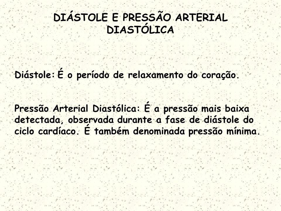DIÁSTOLE E PRESSÃO ARTERIAL DIASTÓLICA