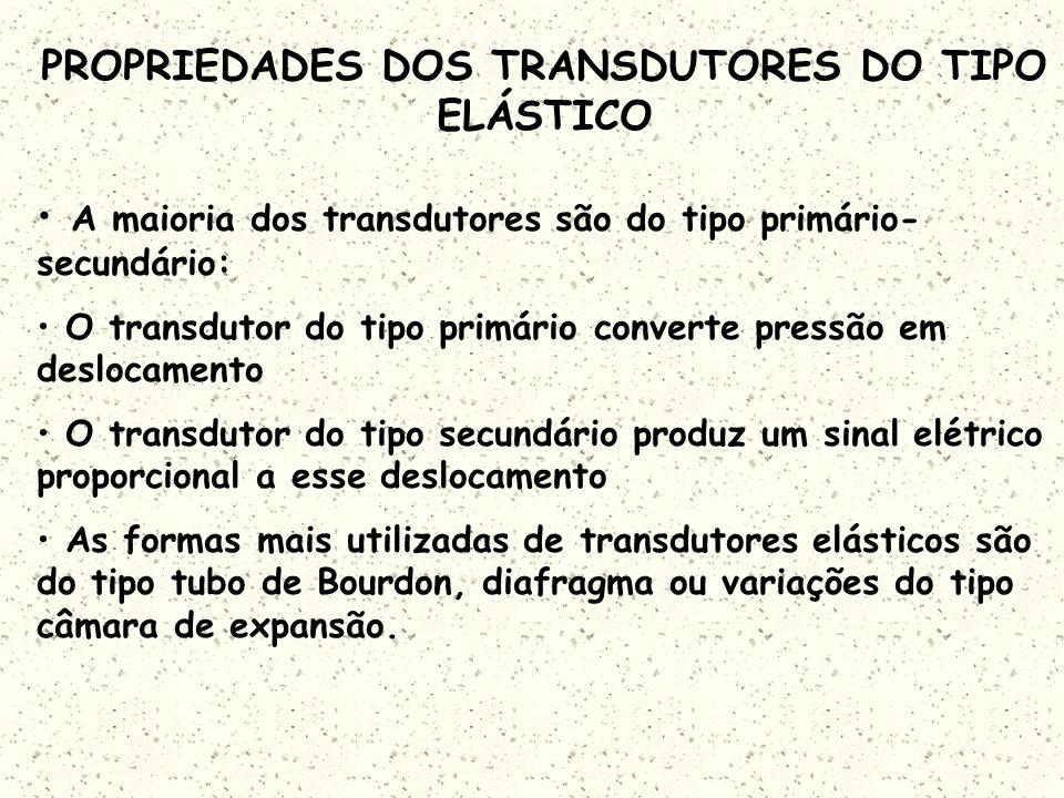 PROPRIEDADES DOS TRANSDUTORES DO TIPO ELÁSTICO