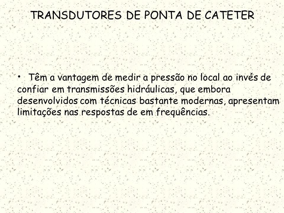 TRANSDUTORES DE PONTA DE CATETER