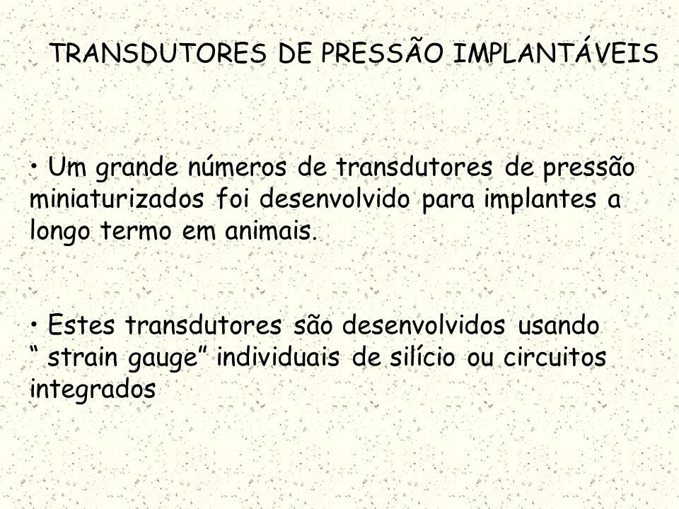 TRANSDUTORES DE PRESSÃO IMPLANTÁVEIS