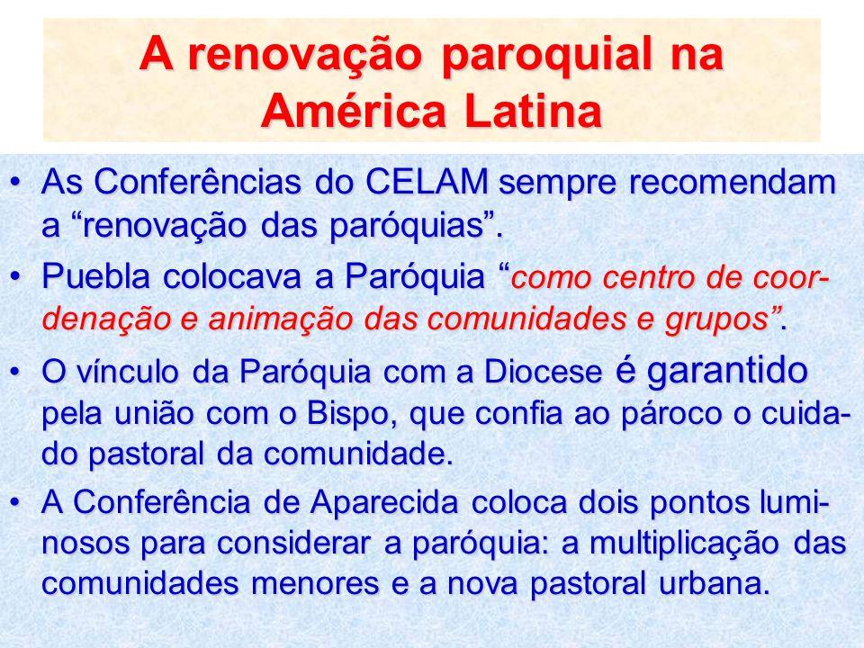 A renovação paroquial na América Latina