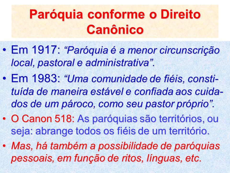 Paróquia conforme o Direito Canônico