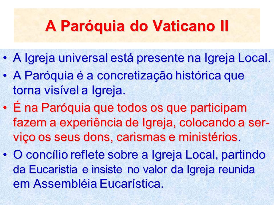 A Paróquia do Vaticano II