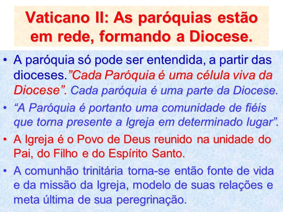Vaticano II: As paróquias estão em rede, formando a Diocese.