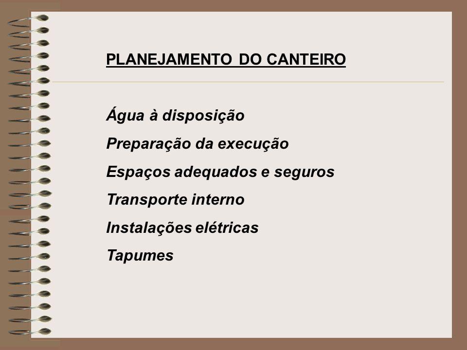 PLANEJAMENTO DO CANTEIRO