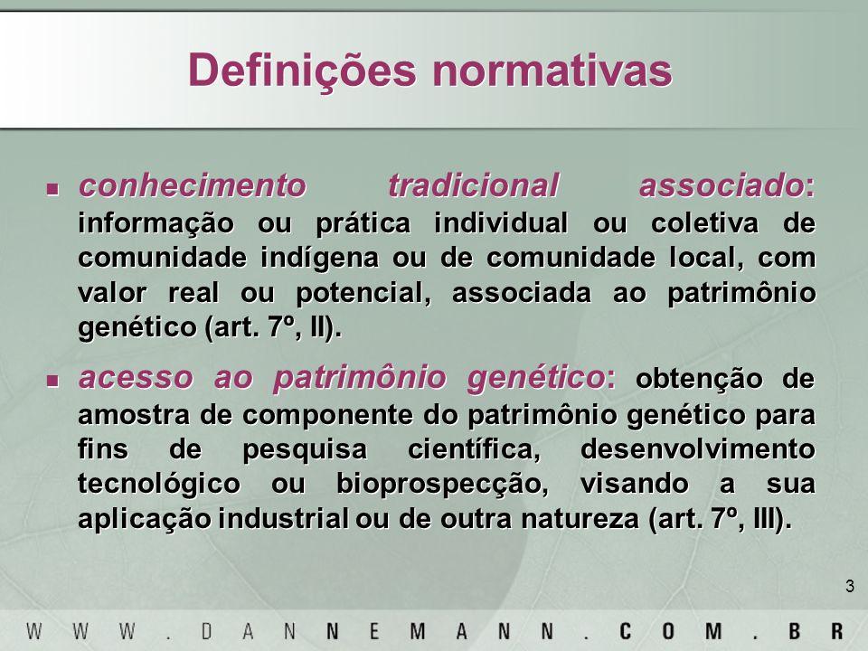 Definições normativas
