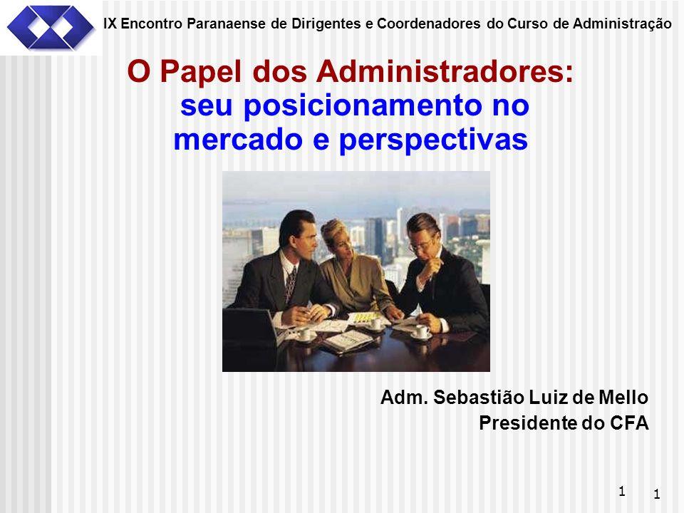 IX Encontro Paranaense de Dirigentes e Coordenadores do Curso de Administração