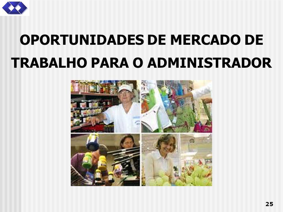 OPORTUNIDADES DE MERCADO DE TRABALHO PARA O ADMINISTRADOR