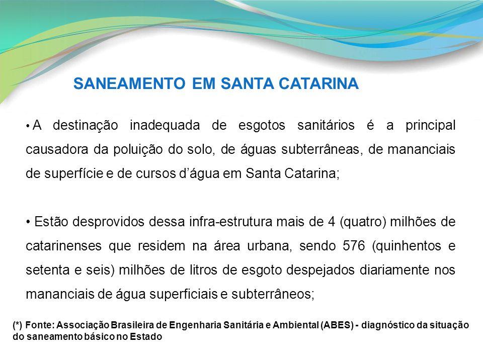 SANEAMENTO EM SANTA CATARINA