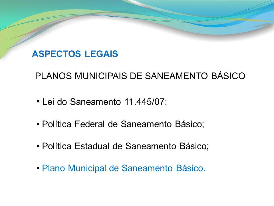 PLANOS MUNICIPAIS DE SANEAMENTO BÁSICO