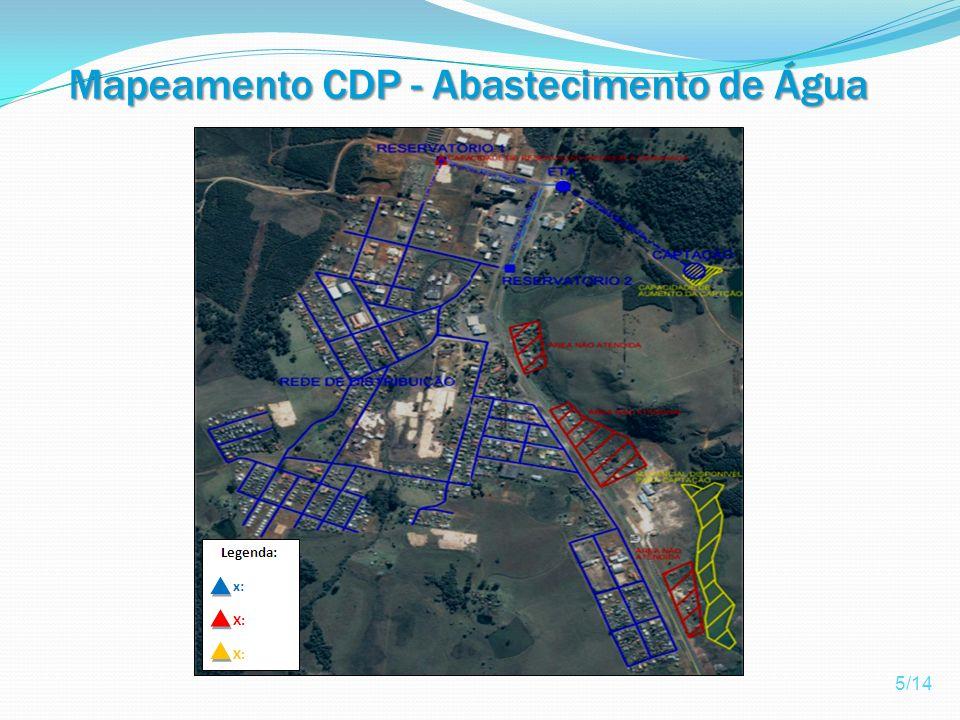 Mapeamento CDP - Abastecimento de Água