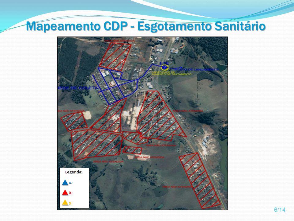 Mapeamento CDP - Esgotamento Sanitário