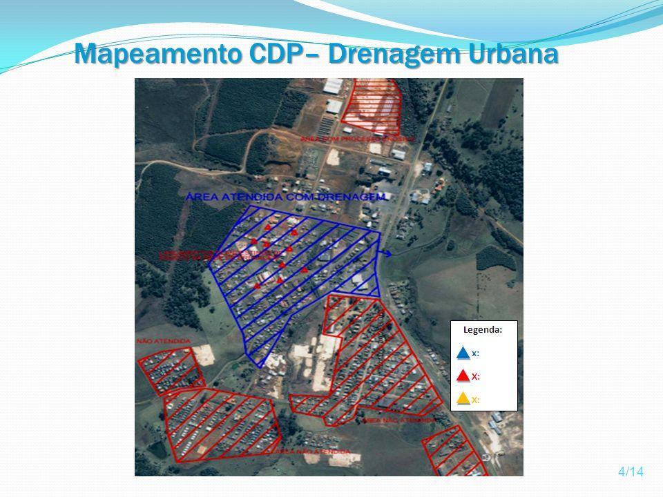 Mapeamento CDP– Drenagem Urbana Pluvial