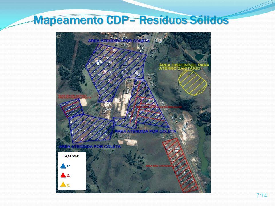 Mapeamento CDP– Resíduos Sólidos
