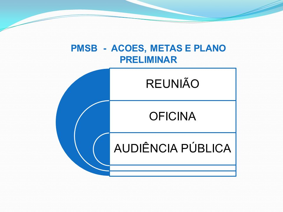 PMSB - ACOES, METAS E PLANO PRELIMINAR