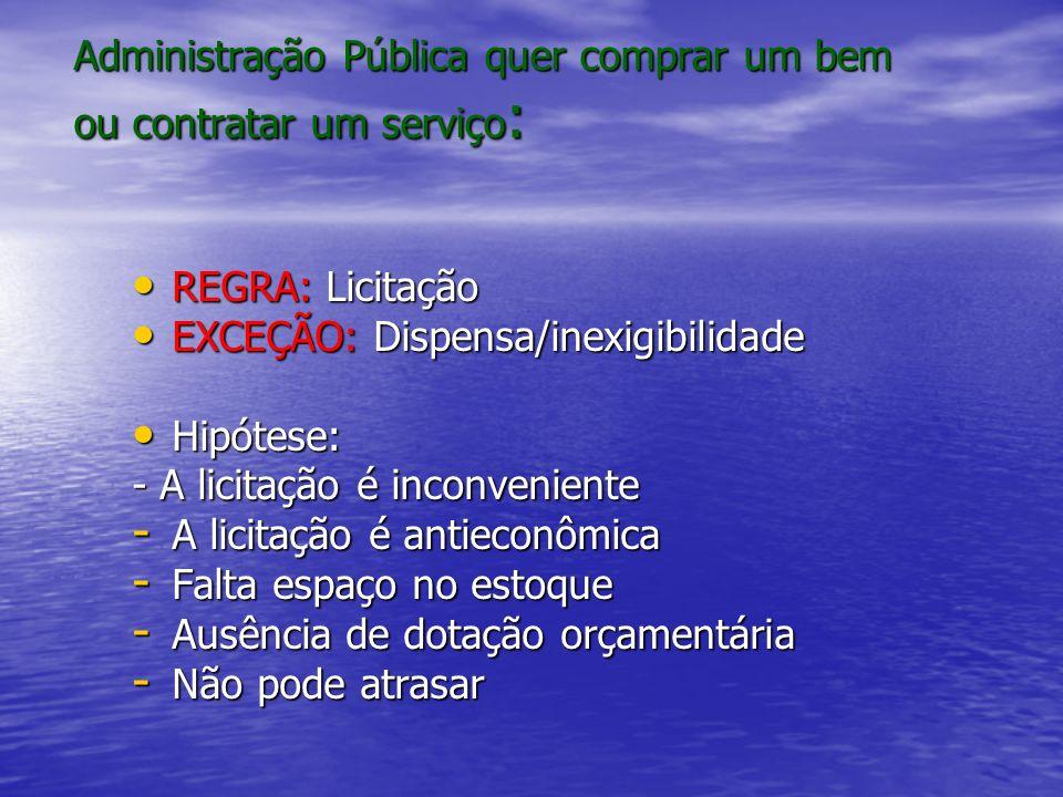 Administração Pública quer comprar um bem ou contratar um serviço: