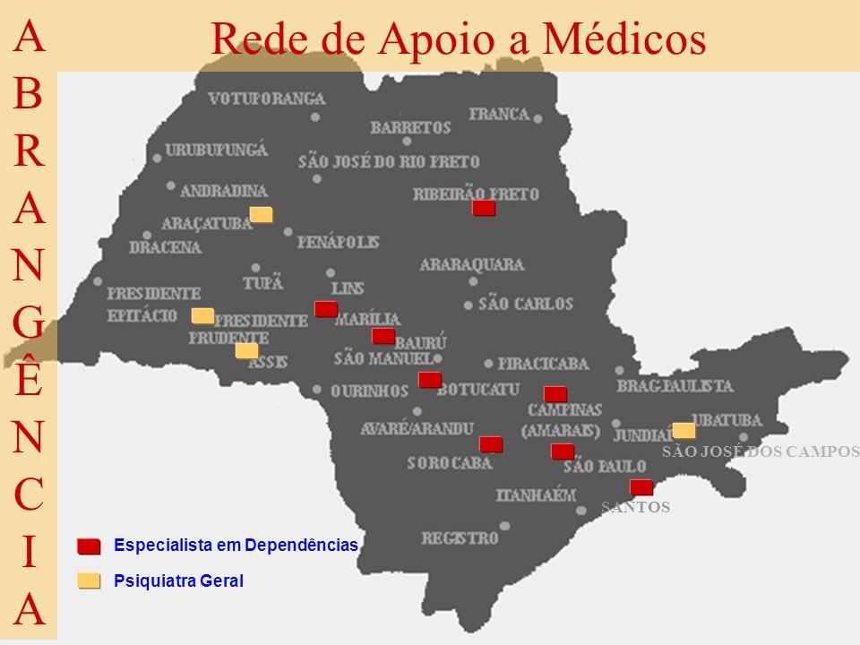 ABRANGÊNCIA Rede de Apoio a Médicos SÃO JOSÉ DOS CAMPOS SANTOS