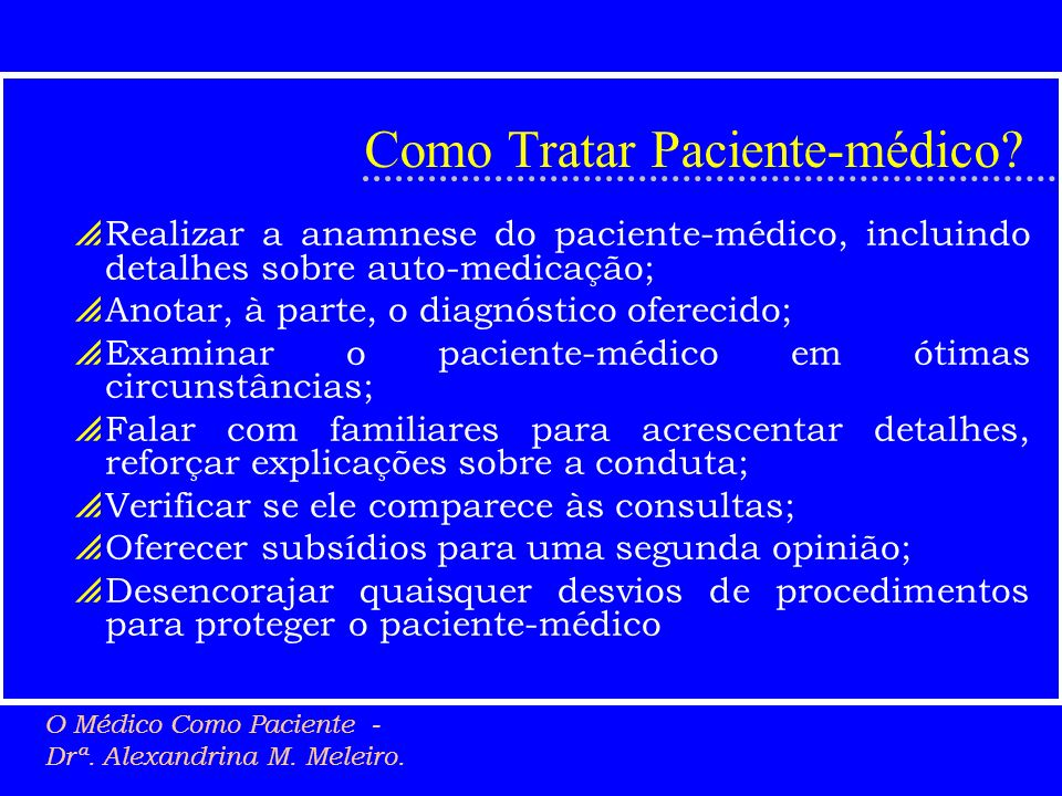 Como Tratar Paciente-médico