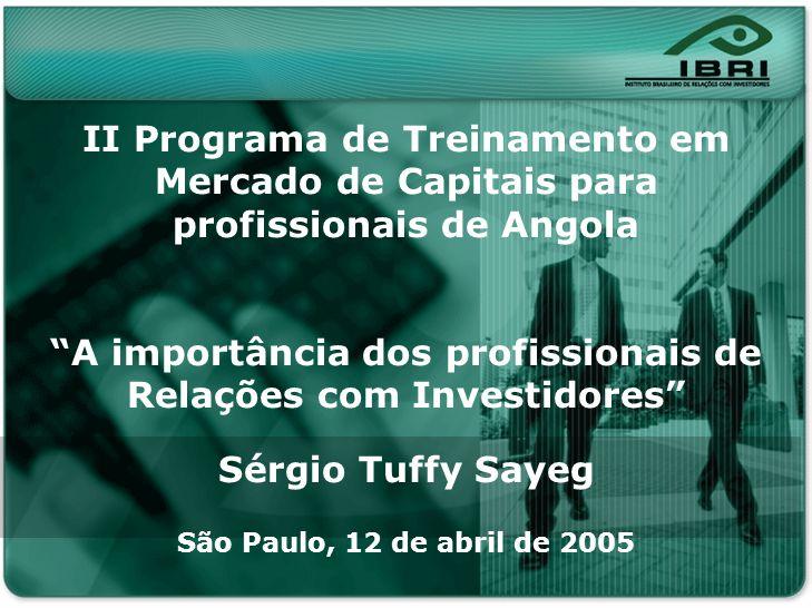II Programa de Treinamento em Mercado de Capitais para