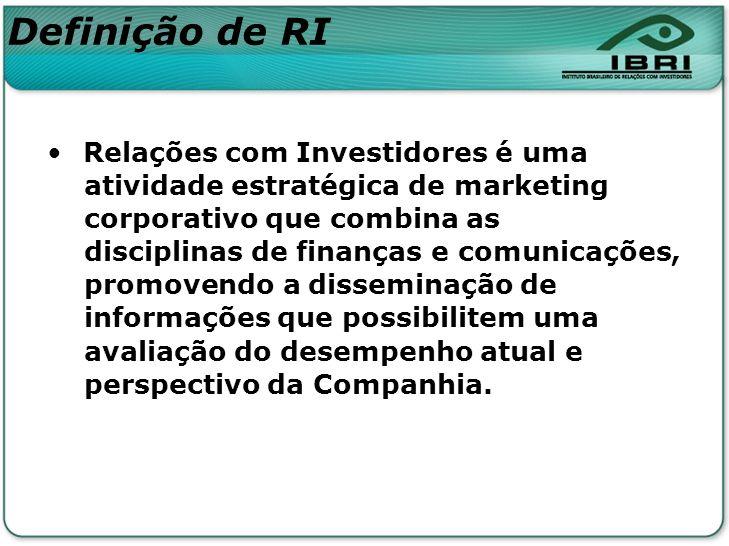 Definição de RI Relações com Investidores é uma
