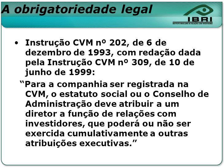 A obrigatoriedade legal