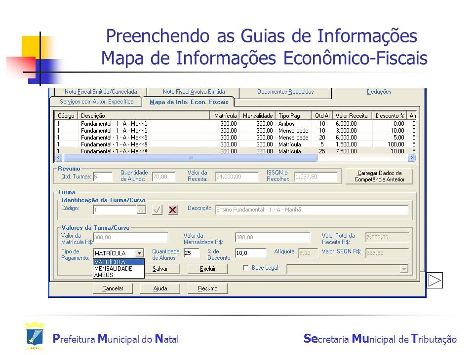 Preenchendo as Guias de Informações Mapa de Informações Econômico-Fiscais