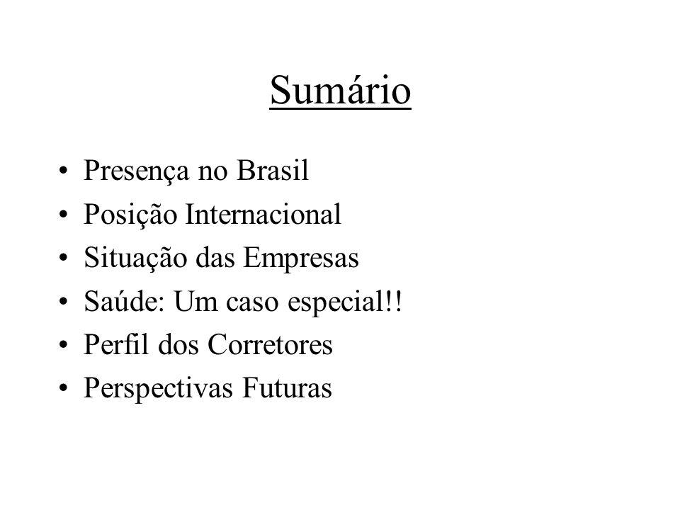 Sumário Presença no Brasil Posição Internacional Situação das Empresas